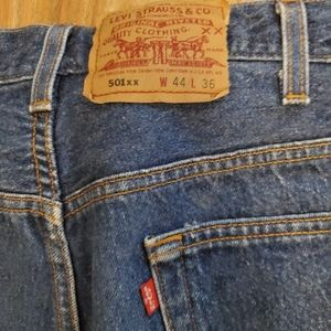 Levi's Jeans - Levi's 501 Red Tag button up fly Jeans.